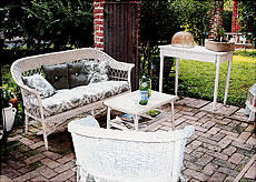 Montclair Bed & Breakfast white wicker chairs